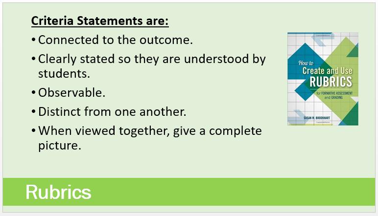 Criteria Statements